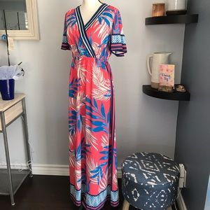 Flying Tomato Pink Maxi Hawaiian Dress NWT